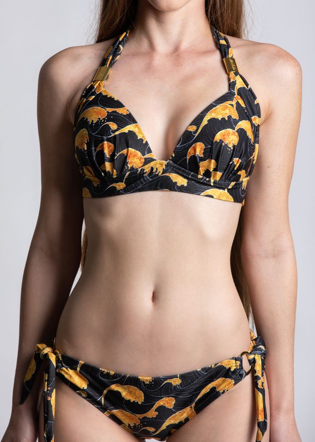 Sea of Gold Padded Halter Top