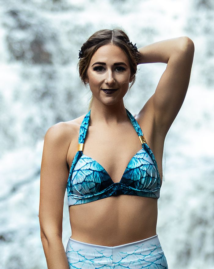 Ghostly Shallows Padded Halter Top