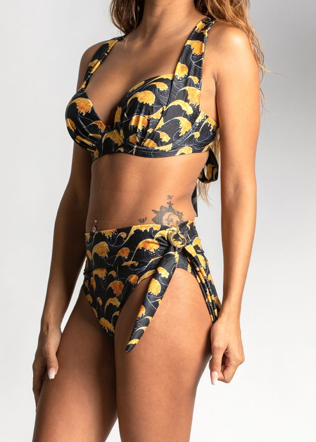 Sea of Gold Buccaneer Tie Swim Bottom