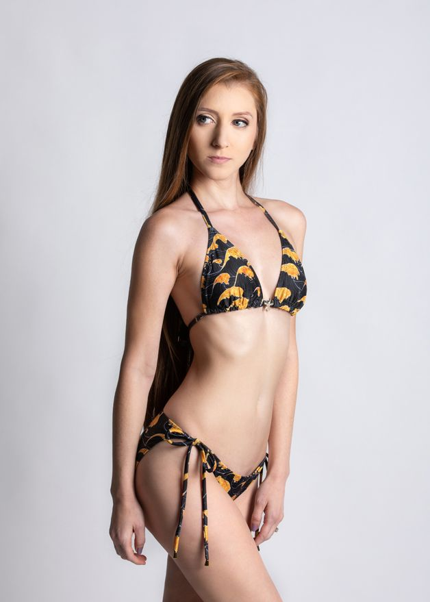 Sea of Gold Side Tie Ruche Bottom